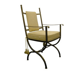 Windsor Metal Carver Chair - Boxed Cushion