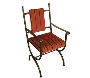 Windsor Metal Carver Chair - Fixed Base