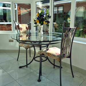 Testimonials - Tuscany Table & Tuscany Chairs with additional padded backs