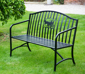 Bennington Silhouette Metal Bench