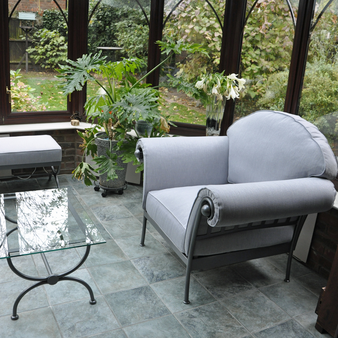 Sorrento Chairs and Bespoke Footstool